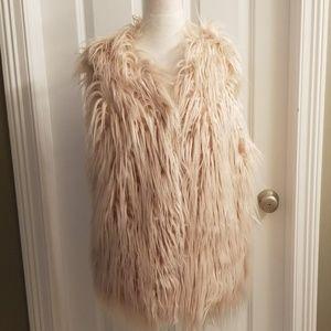 NWT Boutique faux fur vest